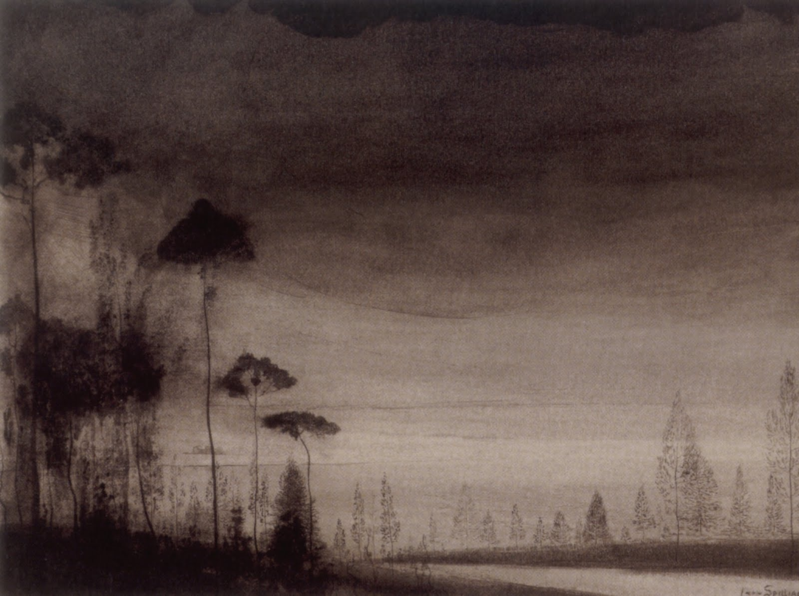 L on spilliaert protect me from what i want for Paysage