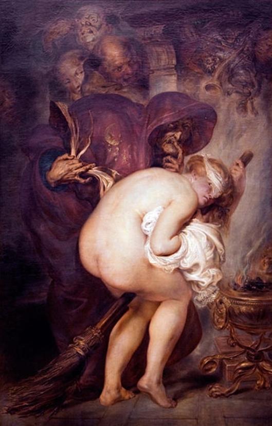Antoine Wiertz,The Young Sorceress 1857