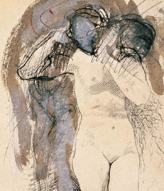 Femme nue, avec tête sur son épaule