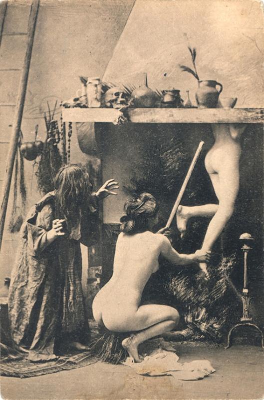 French postcard, Witches' Sabbat in Paris c1910 1