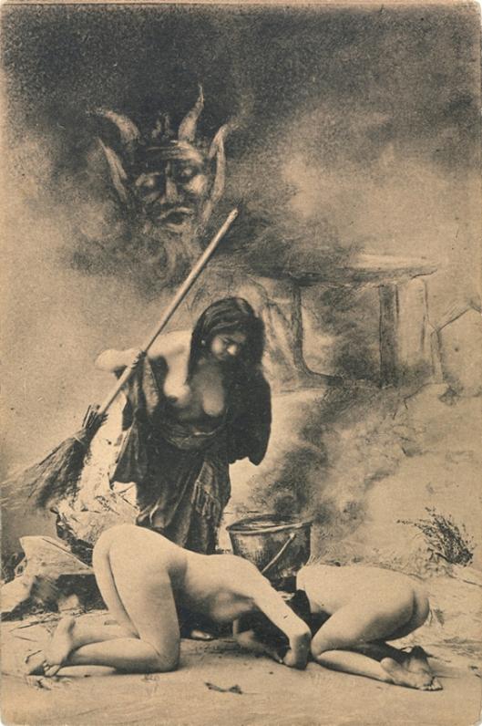 French postcard, Witches' Sabbat in Paris c1910 3