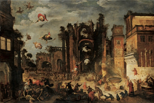 Jacob van Swanenburgh, Witches Sabbath In Roman Palace Ruins, 1608