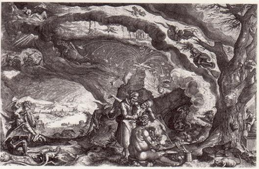 Jacques de Gheyn der Jüngere, Sabbat et cuisine de sorcières c1700