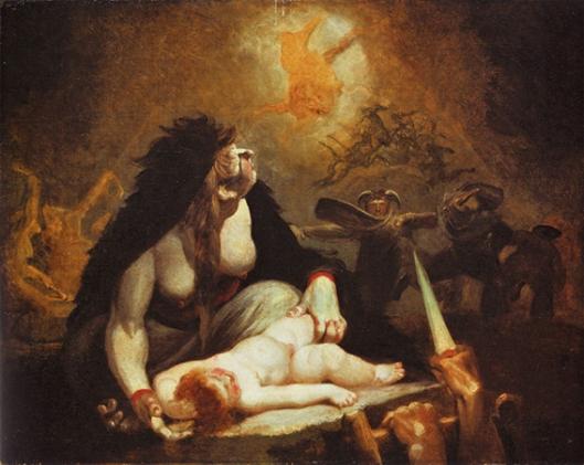 Johann Heinrich Füssli, The Night-Hag Visiting Lapland Witches 1796