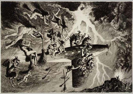 Paul F. Berdanier , The Witches' Sabbath a la Mode c1935