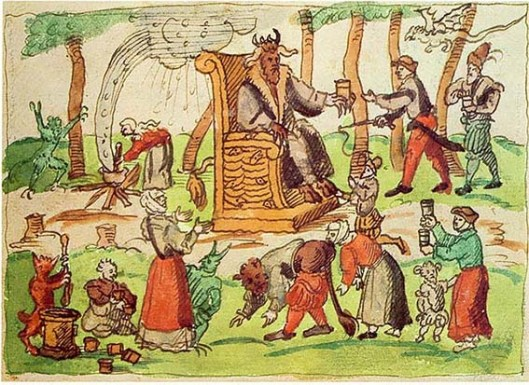 Representation of Sabbat gatherings from the chronicles of Johann Jakob Wick.1250