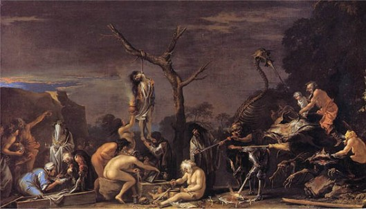 Salvator Rosa,  Witches at Their Incantations 1646