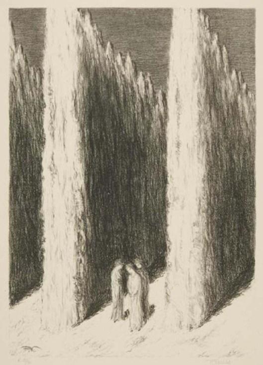 Fantazie měsíčních nocí (Postavy v zahradě), 1944