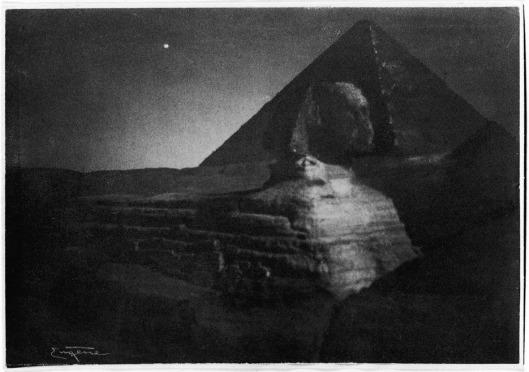 Die Sphinx von Gizeh, Aegypten, Mitternacht