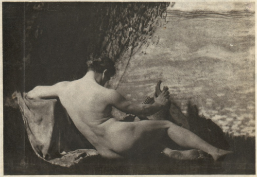 Nude Man with Harp,1908-1910