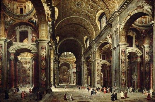 Cardinal Melchior De Polignac Visiting St Peters In Rome (1747)