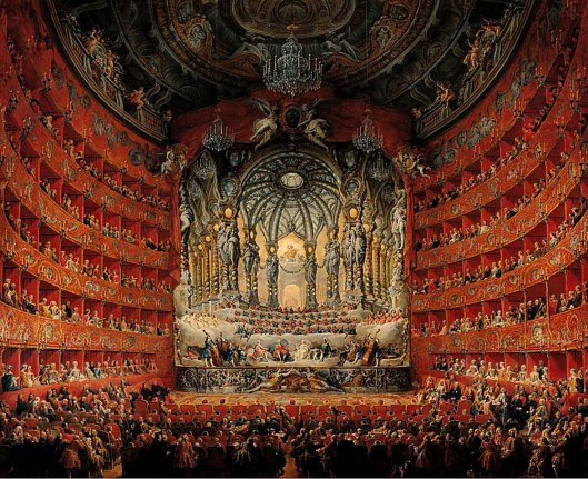 Giovanni Paolo Panini Concert given by Cardinal de La Rochefoucauld at the Argentina Theatre in Rome, on the Marriage of Louis the Dauphin (1747)
