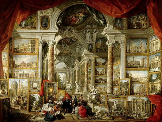 Giovanni Paolo Panini Gallery with Views of Modern Rome (1759)