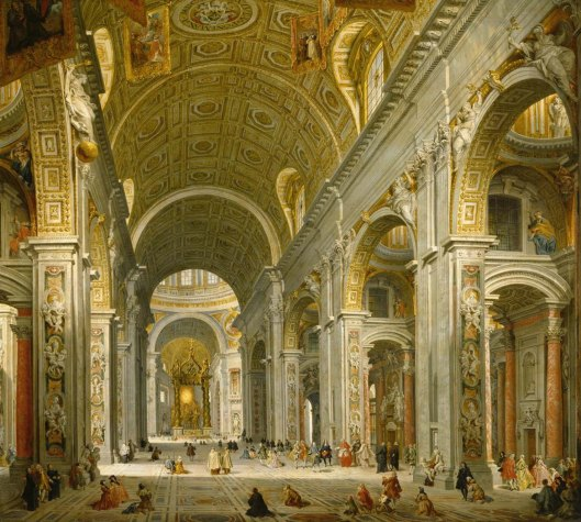 Giovanni Paolo Panini Interior of St. Peter's, Rome (1750)