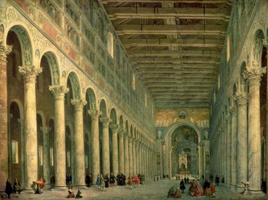 Giovanni Paolo Panini Interior of the Church of San Paolo Fuori le Mura, Rome (1750)