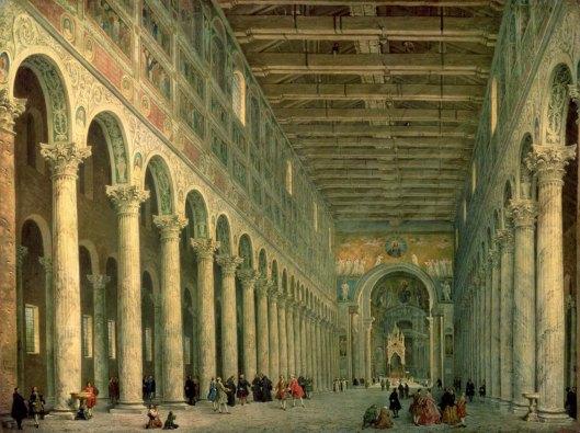 Giovanni Paolo Panini Interior of the Church of San Paolo Fuori le Mura, Rome (1750)