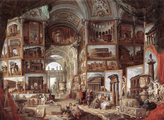 Giovanni Paolo Panini Roman ruins and sculpture (1754)