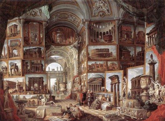 Giovanni Paolo Panini Roman ruins and sculpture (1754)
