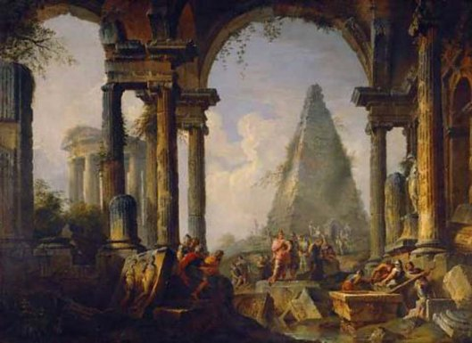 Ruins with Alexander the great at the Grave of Achilles (1751)