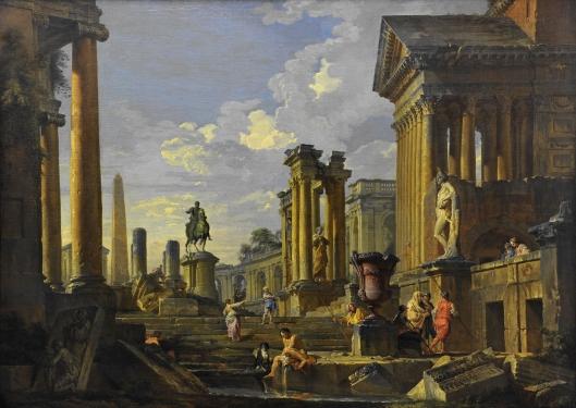 Ruins with obelisk (1746)