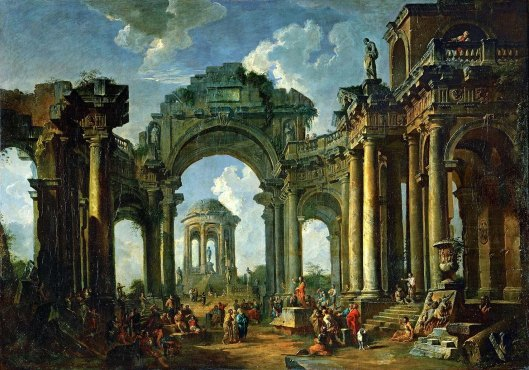 The Roman Forum with the Arch of Titus (1749)