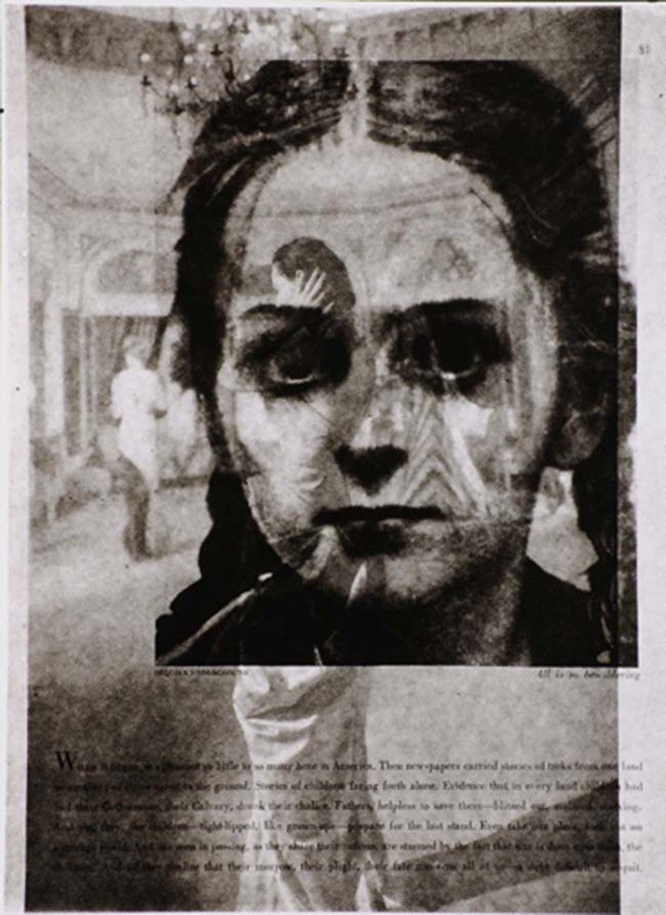 Belgian Underground (Two sides of 1940s magazine page of girl's face), 1960s