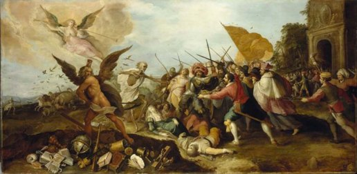 Frans Francken the Elder The Battle of Time against Death