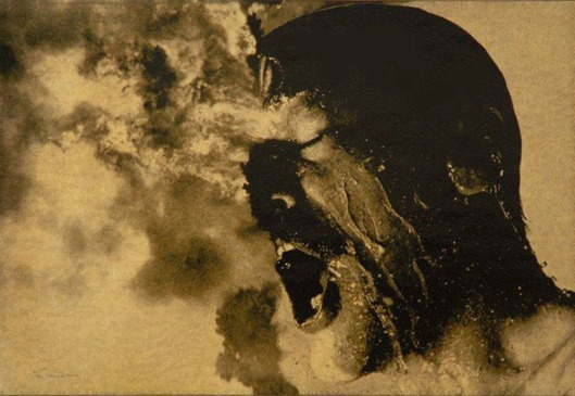 Untitled #181 (head, water & fire, detail), 1988